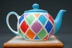 Colourful teapot Royalty Free Stock Photography