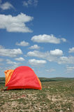 Colourful tent Stock Images