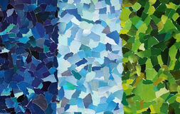 Colourful texture made from torn paper Stock Images