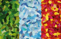 Colourful texture made from torn paper stock photo