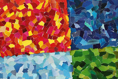 Colourful texture made from torn paper Royalty Free Stock Photography
