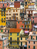 Colourful texture of  Manarola village. Royalty Free Stock Images