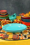Colourful thanksgiving place setting Royalty Free Stock Photos