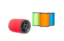 Colourful thread isolated on white Royalty Free Stock Image
