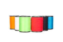 Colourful thread isolated on white Royalty Free Stock Photos