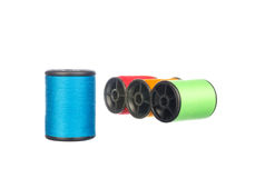Colourful thread isolated on white Stock Photo