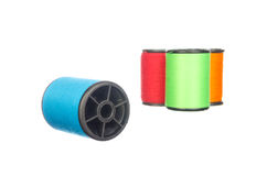 Colourful thread isolated on white Stock Image