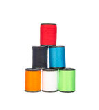 Colourful thread isolated on white Stock Photos