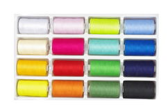 Colourful threads in box Royalty Free Stock Photography