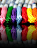 Colourful Threads Stock Image