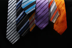 Colourful ties for men Royalty Free Stock Photos