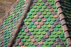 Colourful tiled roof Stock Image