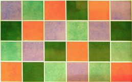 Colourful Tiles. Coloured tiles cropped to a rectangle Stock Images