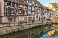 Colourful Timber Framed Buildings in Colmar, France Royalty Free Stock Photography