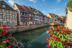 Colourful Timber Framed Buildings in Colmar, France Royalty Free Stock Photo