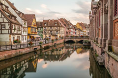 Colourful Timber Framed Buildings in Colmar, France Royalty Free Stock Photos