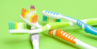 Colourful toothbrushes Royalty Free Stock Photos