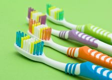 Colourful toothbrushes Stock Images