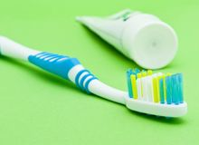 Colourful toothbrushes Stock Photo