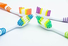 Colourful toothbrushes Royalty Free Stock Image