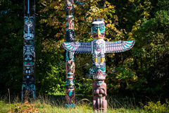 Colourful totems Royalty Free Stock Photos
