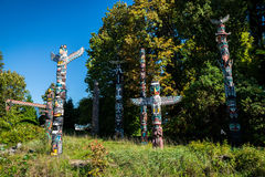 Colourful totems Royalty Free Stock Photography