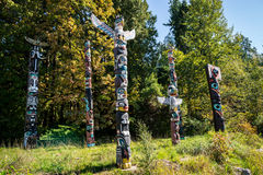 Colourful totems Stock Photography