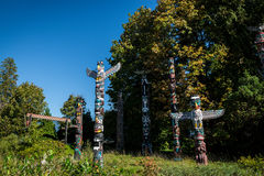 Colourful totems Stock Image