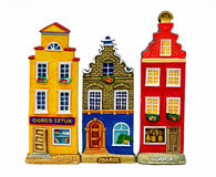 Colourful Townhouses in Gdansk Stock Images