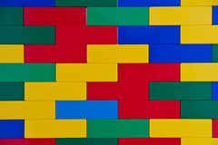 Colourful Toy Brick Wall Royalty Free Stock Image