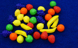 Colourful toy fruit Royalty Free Stock Photo