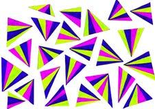 Colourful trójboki obrazy royalty free
