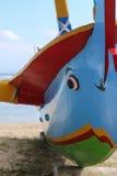 Colourful Tradiional Jakung łódź na Bali Zdjęcia Royalty Free