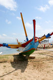 Colourful Tradiional Jakung Boat on Bali Stock Photos