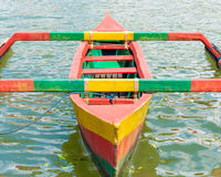 Colourful traditional Balinese fishing boat Royalty Free Stock Image