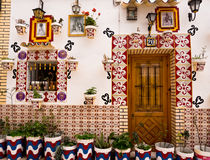 Colourful Traditional  House in Alicante, Spain Stock Photos