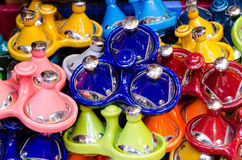 Morrocan pottery to use for Tajin dishe Royalty Free Stock Photography
