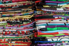 Colourful traditional Shawls Stock Images