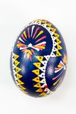 Colourful traditionally painted Sorbian Easter egg. For Easter custom Stock Photos