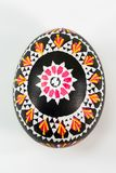 Colourful traditionally painted Sorbian Easter egg. For Easter custom Royalty Free Stock Photo