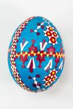 Colourful traditionally painted Sorbian Easter egg. For Easter custom Stock Photography
