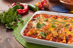 Colourful Tradycyjny Meksykański jedzenie Zdjęcia Stock