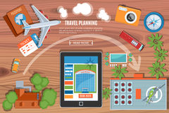 Colourful Travel Planning Banner Stock Images