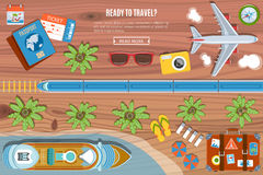 Colourful Travel Vector Banner Royalty Free Stock Image