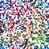Colourful triangle seamless pattern Royalty Free Stock Photo