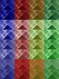 Colourful Triangles Background Stock Images