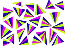 Colourful Triangles. A gel pen drawing of colourful triangles isolated on white Royalty Free Stock Images