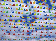 Colourful triangular decorative flags Royalty Free Stock Images