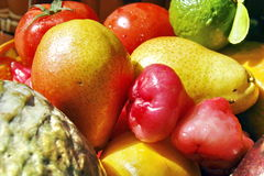 Colourful tropical fruits Stock Photo