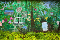 Colourful tropical garden Royalty Free Stock Photography